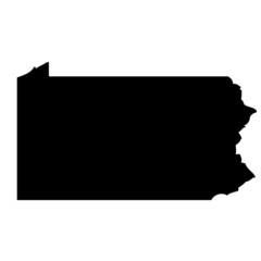 Pennsylvania - map state of USA