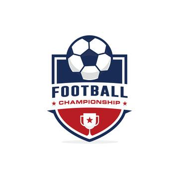 Football soccer logo template