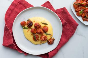Roasted Cherry Tomato Polenta