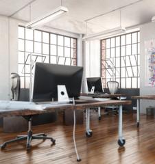 Industrial Office Area (focus)