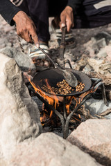 Traditionally made coffee in Jordan
