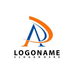 AP Letter Logo Design with Creative Modern Trendy Typography, AR Letter Logo vector.