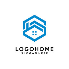 Hexagon letter S architecture logo design vector template, icon, symbol