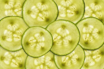 Cucumber slices background