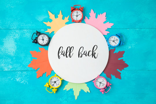 Fall back time change concept.