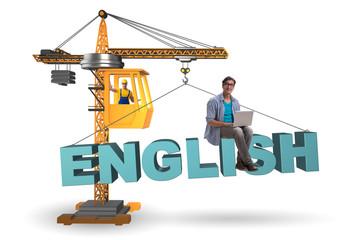 Young man in english language training