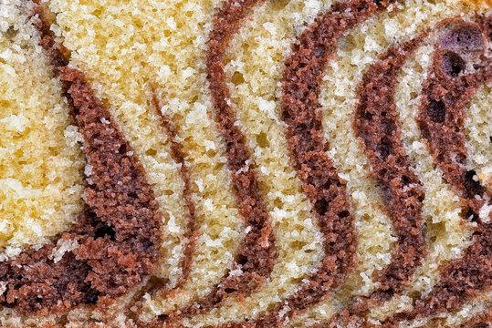 Background of Chocolate Marble Cake, Tiger/zebra cake