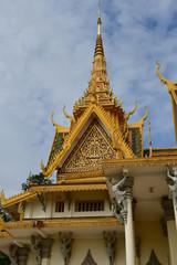 Phnom Penh; Kingdom of Cambodia - august 20 2018 : Royal Palace