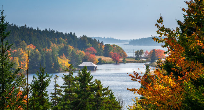 Autumn in Acadia National Park,Maine,USA