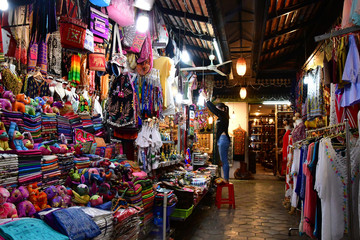 Siem Reap; Kingdom of Cambodia - august 23 2018 : night market