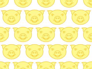 Cartoon pig pattern