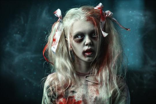 blonde zombie girl