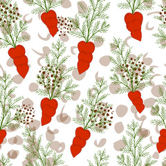 Seamless pattern with floral romantic elements.