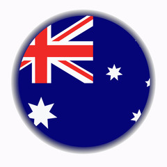 Banner with flag of Australia.