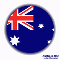 Banner with flag of Australia. Vector.