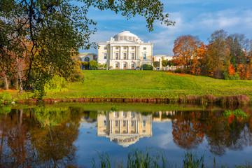Pavlovsk palace in autumn in Pavlovsky park, St. Petersburg, Russia