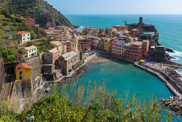 Vernazza, colorful village of Cinque Terre, Italy