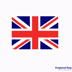 Banner with flag of England.