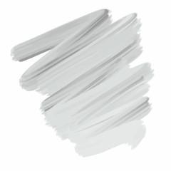 Brushstroke of gray paint