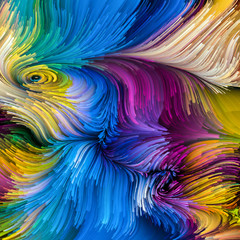 Elements of Colorful Paint