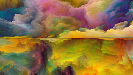 Painted Abstract Landscape