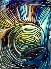 Quickening of Iridescent Glass