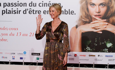 Actress Michele Laroque attends the opening of the Lumiere 2018 Grand Lyon Film Festival, in Lyon