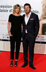Actor Gilles Iellouche (r) attends the opening of the Lumiere 2018 Grand Lyon Film Festival, in Lyon