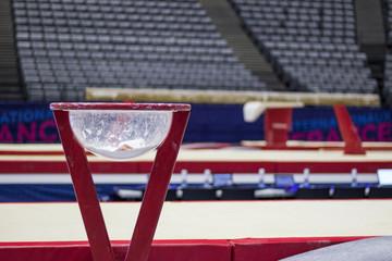 Photo Blinds Gymnastics A balance beam in a gymnastic arena
