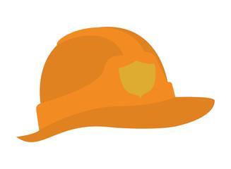 cute fireman helmet isolated icon