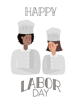 couple of cooks celebrating the labor day avatar character