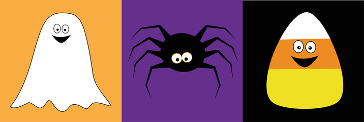 Halloween Ghost Spider Candy