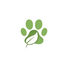 paw green with leaf logo