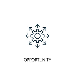 Obraz opportunity concept line icon. Simple element illustration. opportunity concept outline symbol design. Can be used for web and mobile UI/UX - fototapety do salonu