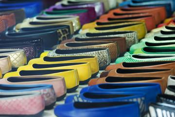 Woman shoes diversity at  apparel shop