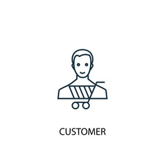 Customer concept line icon. Simple element illustration. Customer concept outline symbol design. Can be used for web and mobile UI/UX
