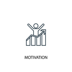 motivation concept line icon. Simple element illustration. motivation concept outline symbol design. Can be used for web and mobile UI/UX