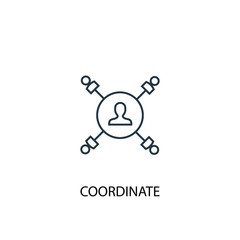 coordinate concept line icon. Simple element illustration. coordinate concept outline symbol design. Can be used for web and mobile UI/UX