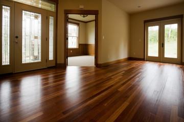 Obraz empty room with windows - fototapety do salonu
