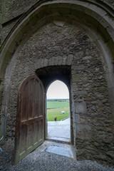 Castle Door Overlooking Landscape