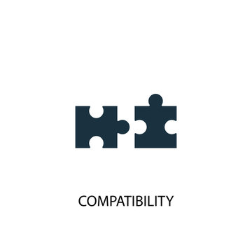 compatibility icon. Simple element illustration. compatibility concept symbol design. Can be used for web and mobile.