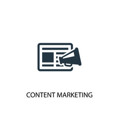 content marketing icon. Simple element illustration. content marketing concept symbol design. Can be used for web and mobile.
