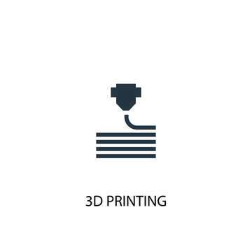 3d printing icon. Simple element illustration. 3d printing concept symbol design. Can be used for web and mobile.