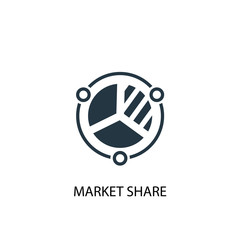 market share icon. Simple element illustration. market share concept symbol design. Can be used for web and mobile.