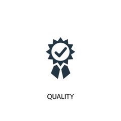 quality icon. Simple element illustration. quality concept symbol design. Can be used for web and mobile.
