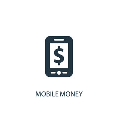mobile money icon. Simple element illustration. mobile money concept symbol design. Can be used for web and mobile.