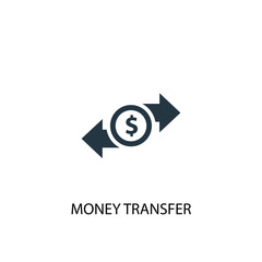 money transfer icon. Simple element illustration. money transfer concept symbol design. Can be used for web and mobile.