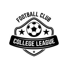 Soccer, football emblems. Design element for logo, label, emblem, sign.