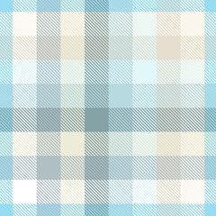 Plaid pattern in pastel blue. teal and tan