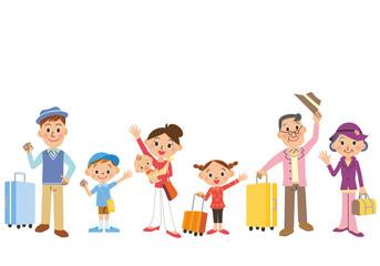 旅行 準備 移動 三世代家族